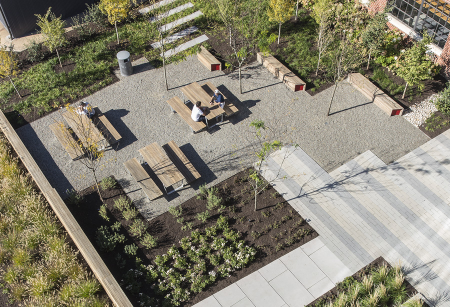 Banner Office Building Courtyard from Above