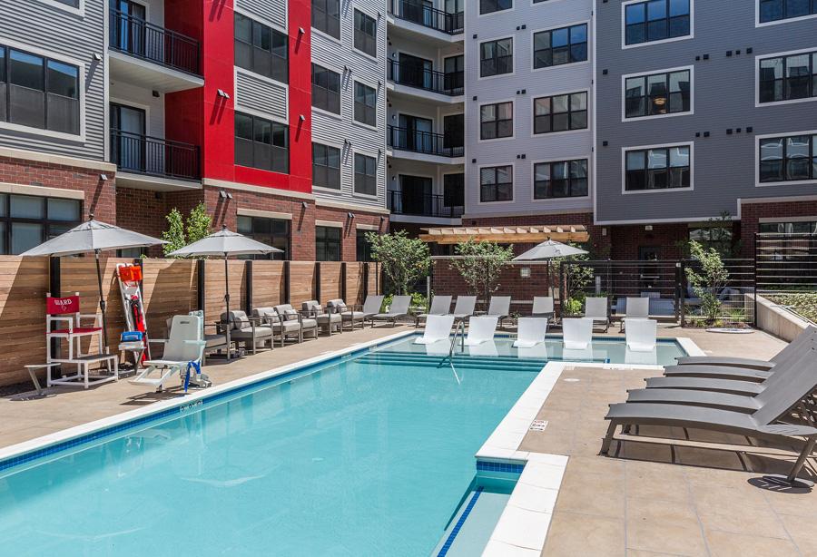 Porter Street Apartments Pool Area