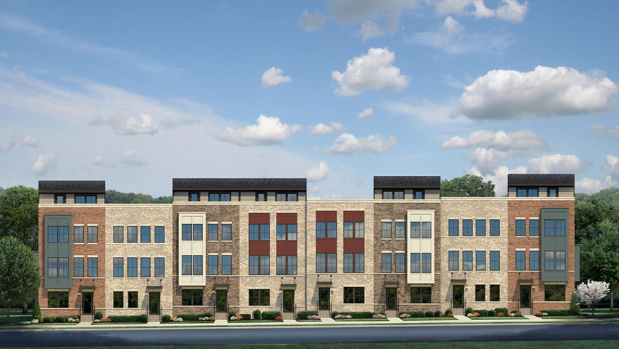 Elevation of Banner Row Townhomes in Locust Point South Baltimore Community