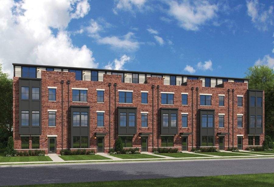 banner row townhomes rendering