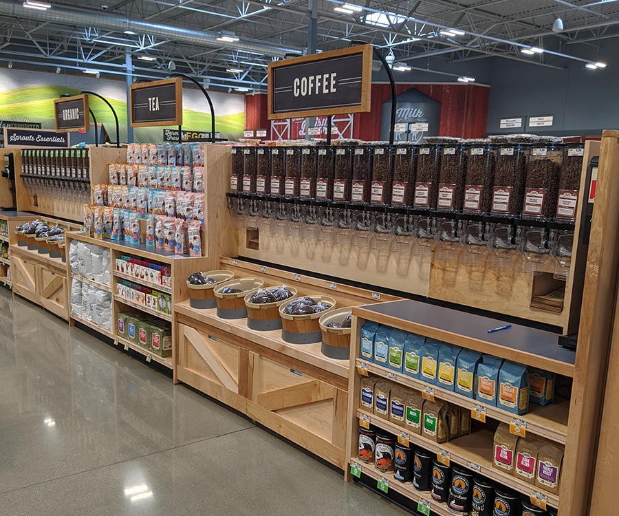 Coffee selection at Sprouts Farmers Market at the Collective at Canton