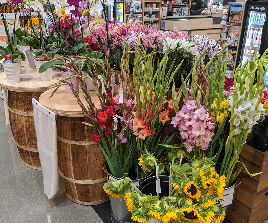 Floral department at Sprouts Farmers Market at the Collective at Canton