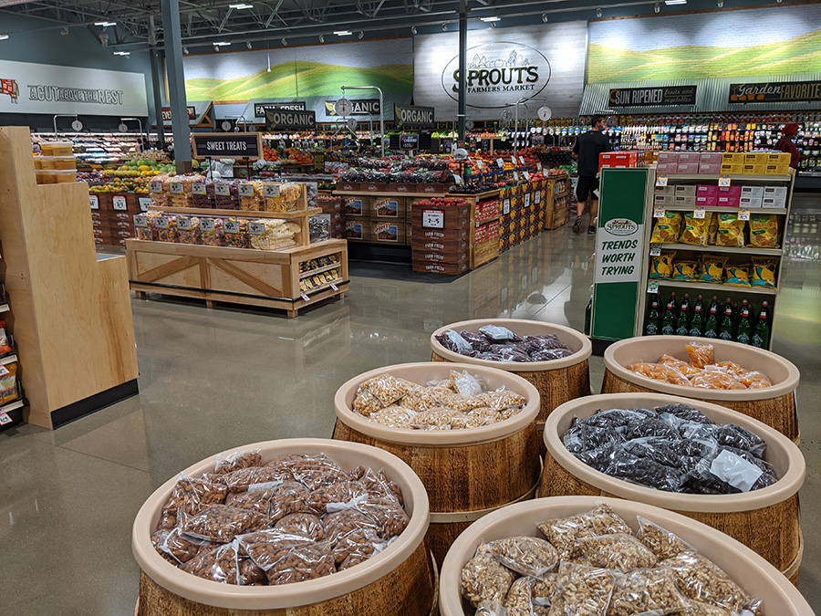 Nuts and produce at Sprouts Farmers Market at the Collective at Canton